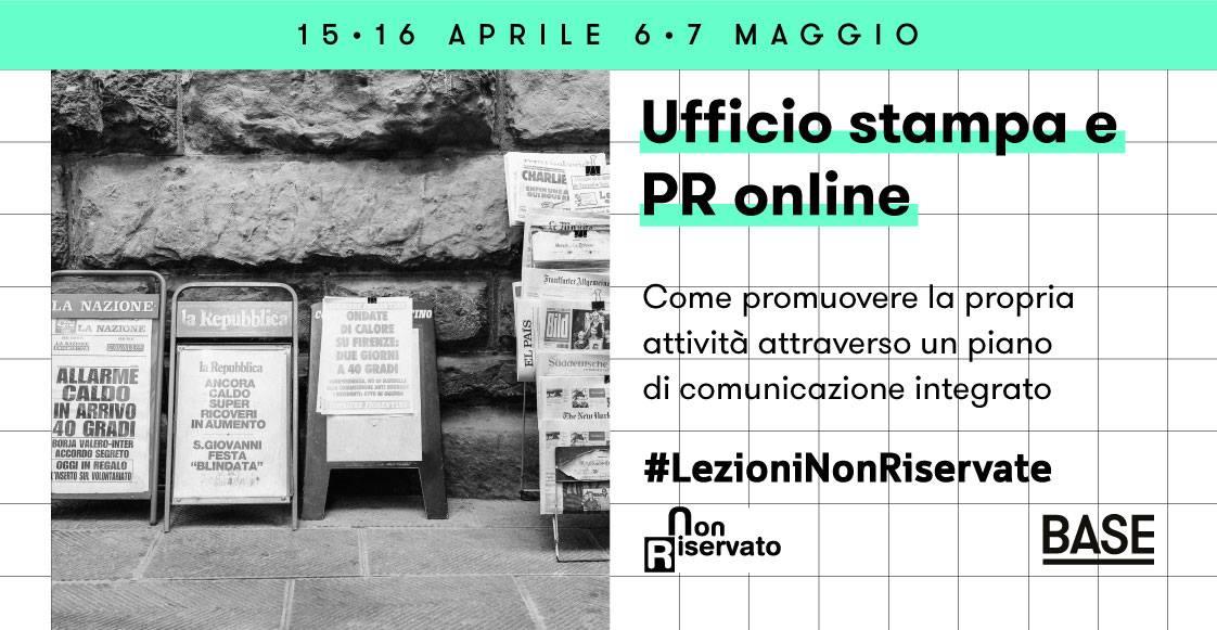Ufficio stampa e PR online_Lezioni non riservate - BASE Milano